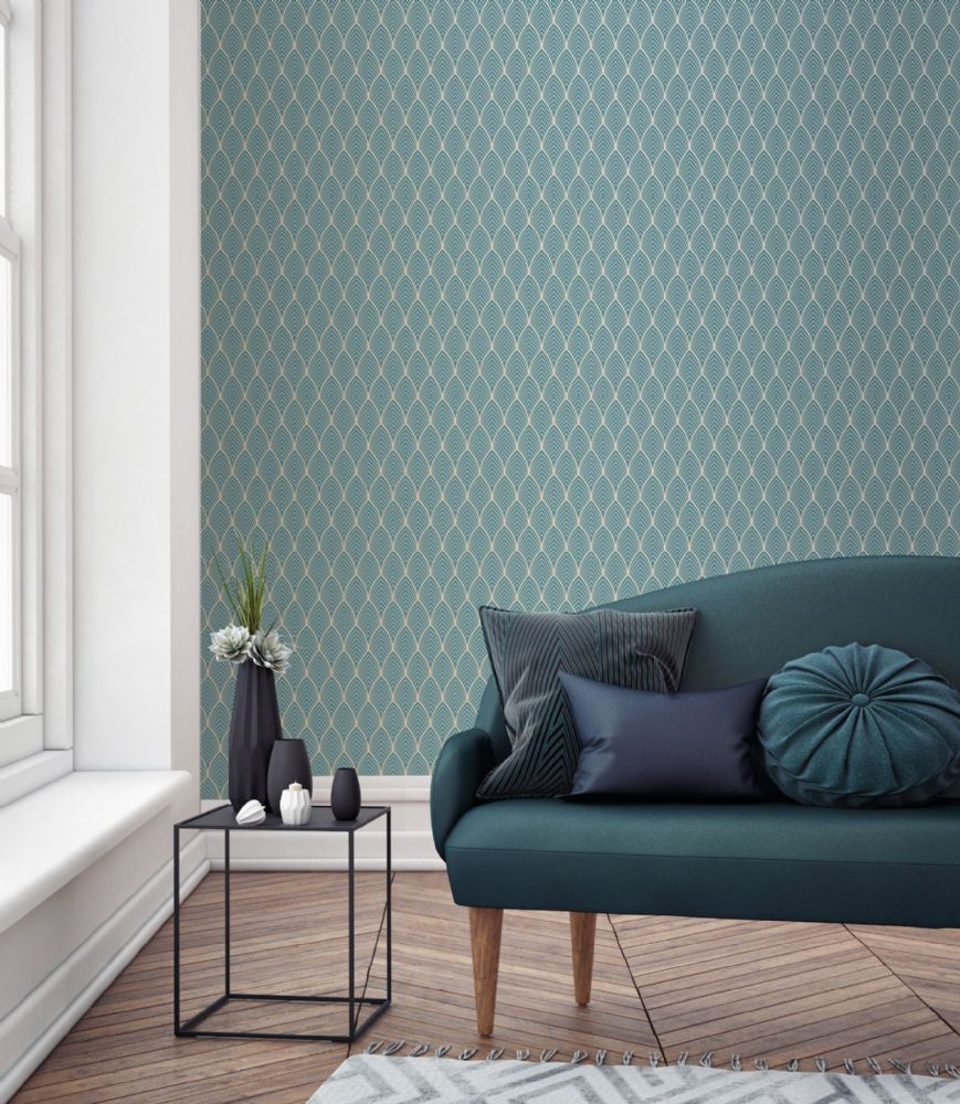Graham and Brown Bercy Blue 103116 Wallpaper PB